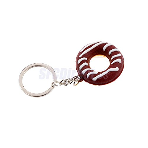 Charm Food Simulation Key Chain Keyring Pendant Purse Bag Keychain Doughnut