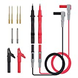 12 Pcs Electrical Multimeter Test Leads Kit, Digital Multimeter Leads with Alligator Clips Test Extension Test Probe Multimeter Test Probes Tips Set of 12