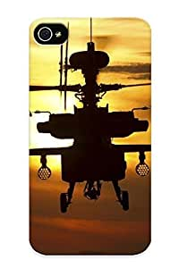 Summerlemond Case Cover Protector Specially Made For Iphone 4/4s Sunset Army Helicopters Flying Us Army Vehicles Apache Longbow Military Art