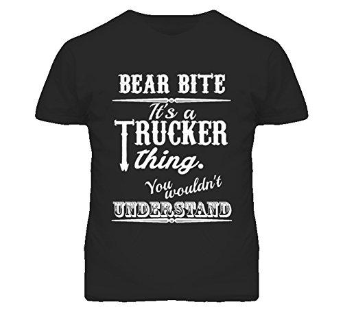 Its a Trucker Thing You Wouldnt Understand Bear Bite CB Lingo T Shirt M Black (Bear Bite Shirt)