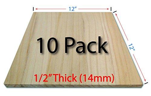 Wood Breaking Boards - 10 Pack - 1/2