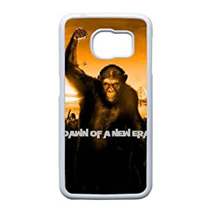 Dawn Of The Planet Of The Apes Funda Samsung Galaxy S6 Edge Funda Caja del teléfono celular blanco Q5N1DE