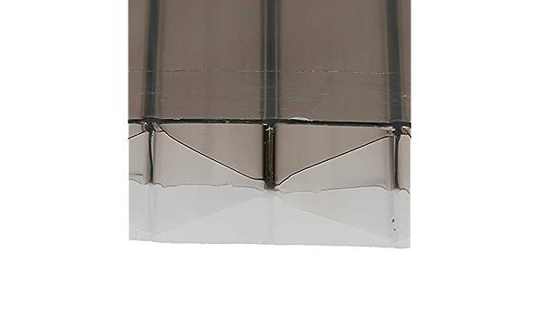 25 mm de bronce/ópalo 1500 mm de ancho x doble pared de policarbonato hoja panel de techo de plástico (alto: 25 mm x ancho: 1,5 m x largo) varios tamaños a elegir:
