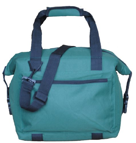 Monogrammed 12 Can Soft-Sided Cooler (Forest Green)