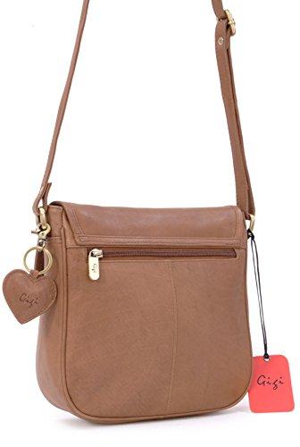 Gigi Gigi Brown Othello Bag Saddle Leather 8775 Saddle w5dHCqaw