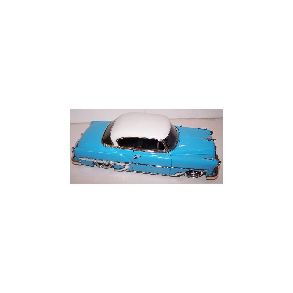 Jada 1/24 Scale Diecast Dub City 1953 Chevy Bel Air in Color Light Blue with White Top