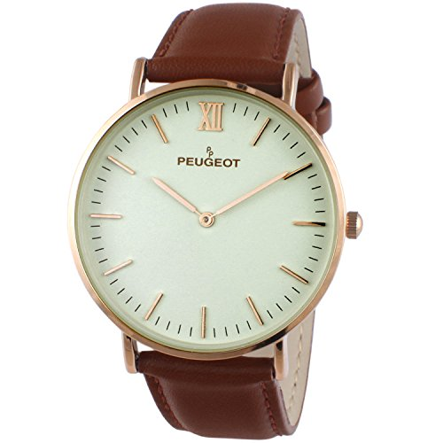 peugeot-super-slim-14k-rose-gold-plated-brown-genuine-leather-band-sheffield-watch-2050rg