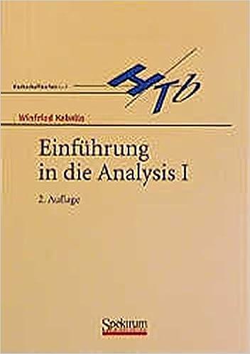 Book Einführung in die Analysis I (German Edition)