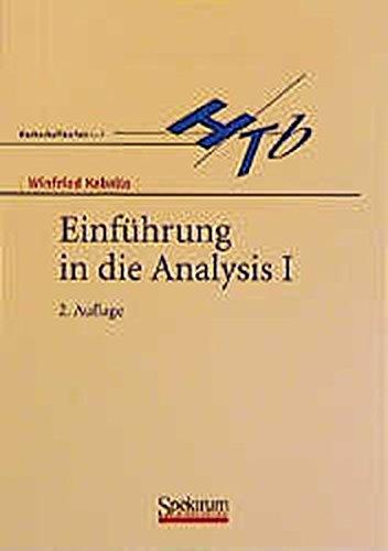 Einführung in die Analysis, Bd.1