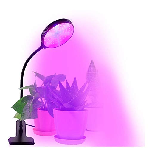 MD Lighting LED Grow Light for Indoor Plants, 15W Growing Lamp, 5 Dimmable Levels, 4/8/12H Timer, 3 Kinds of Light Color Switching