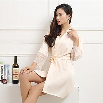 b78a0207db74 Image Unavailable. Women Robe Silk Satin Robes Bridal Wedding Bridesmaid  Bride Gown Kimono ...