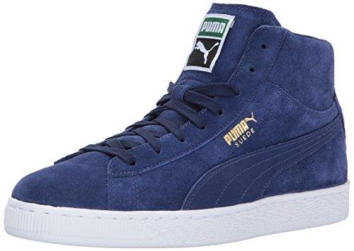 Puma Menns Semsket Klassiske Mid Sneaker Blå Dypet / Blå Dypet