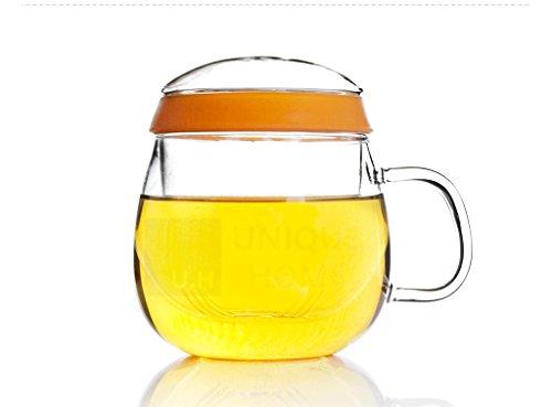Tea infuser Mug (500ml 18oz) Teacup with strainer, Loose ...