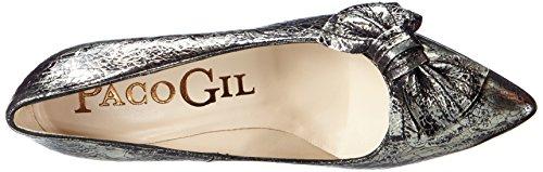 Paco Gil P2797 - zapatos de tacón cerrados de piel mujer Plata - Silber (Pewter)