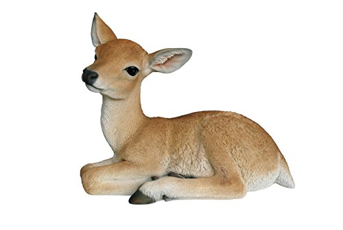 Hi-Line Gift Ltd Laying Down Baby Deer Statue