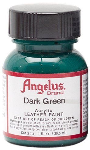 - Angelus Brand Acrylic Leather Paint Water Resistant 1 oz - Select Your Color (#171 Dark Green)