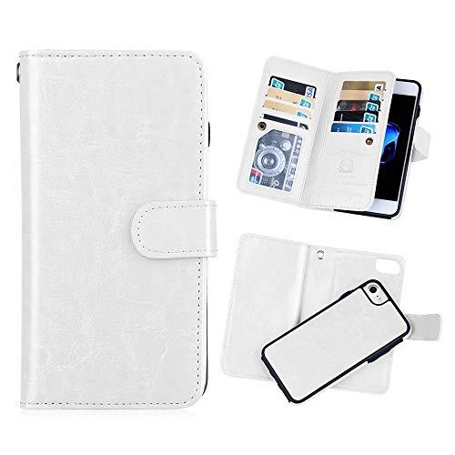 iPhone 6 plus/6S Plus 2 in 1 Wallet Case,Hynice Folio Flip PU Leather Case Magnetic Detachable Slim Back Cover Card Holder Slot Wrist Strap Wallet for iPhone 6 plus/6S Plus -