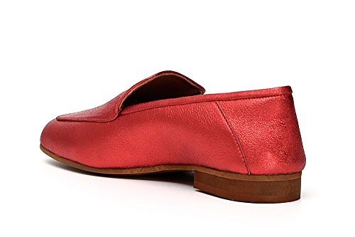 Cafè Noir KED123 Laminated Leather Loafers 2319 Rame Fu1cIFgl