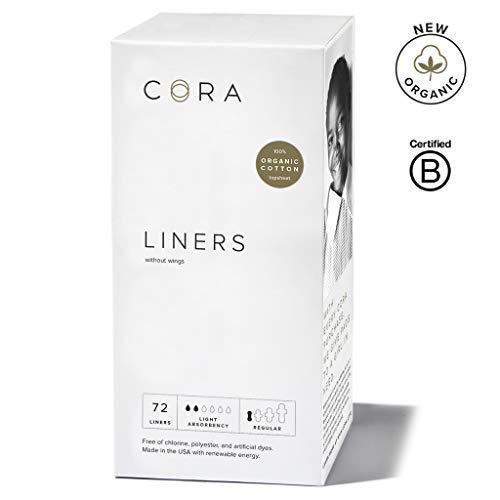 Cora Ultra Thin Organic Cotton Women's Panty Liners (New Organic 72) -