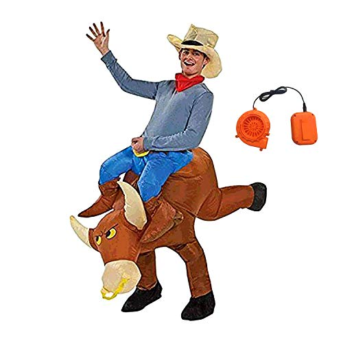BestParty Fancy Adult Inflatable Clothing Cowboy Halloween Costume Fantasy Costume Riding Costume -