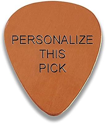Personalizado añadir su propio texto grabado púa de guitarra y ...