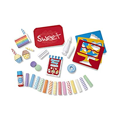 Melissa & Doug Sweet Shop Multi-Colored Chalk and Holders Play Set - 33 Pieces, Great Gift for Girls and Boys: Toys & Games