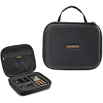 Inkbird Portable Hard Travel Storage Carrying Case Compatible for IRF-4S Wireless Grill Thermometer, with Shockproof, Dustproof and Waterproof Surface, 8.8 x 6.8 x 2.4 inches, Black