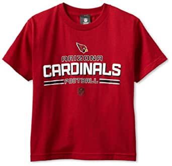 NFL Arizona Cardinals Youth 8-20 Short Sleeve T-Shirt Toss T-Shirt, Large, Red