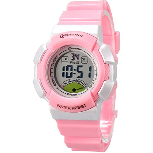 Sport Digital Outdoor Waterproof Kids Watch for Girls by Euvery