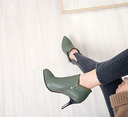 Señora Corte Elegante moda Zapatos de Zapatos Elegante Mujer Green Tacones MNII Zapatos 51f0npw