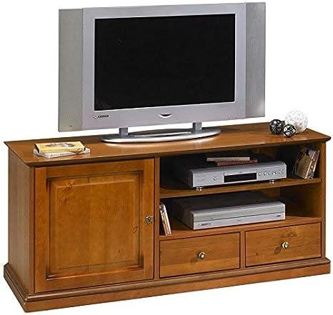 ACTUAL DIFFUSION Real Difusión 6739 Alsacia tamaño Grande Soporte para televisor con Ruedas – Madera 46,5 x 134,5 x 58,5 cm: Amazon.es: Hogar