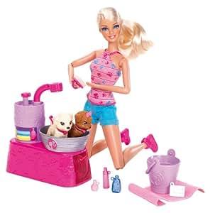 Barbie W3153 - Baña A Sus Perritos (Mattel)