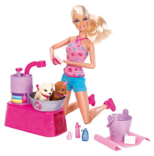 - Barbie Suds and Hugs Pups Playset