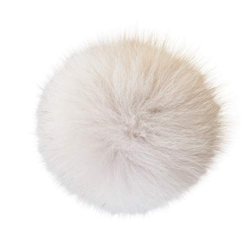 Real Raccoon Fox Fur Pompom with Button Big Fur Ball for sale  Delivered anywhere in USA