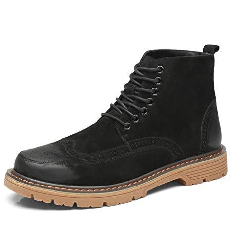 le Boots Men Autumn Winter Anti-Slip Breathable Combat Boots ()