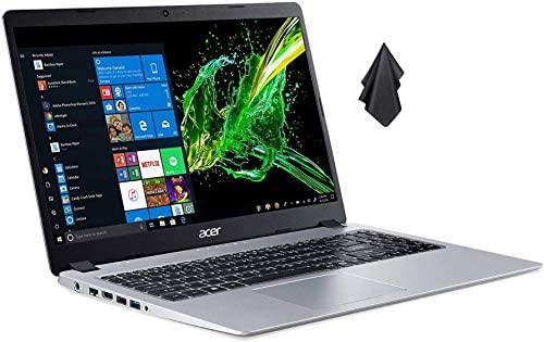 Acer Aspire 5 Slim Laptop Computer(2021 Newest), 15.6 inches Full HD IPS Display, AMD Ryzen 3 3200U, Vega 3 Graphics, 8GB DDR4 RAM, 500GB HDD, Backlit Keyboard, Windows 10 + Oydisen Cloth