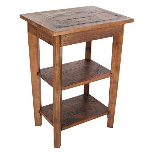 Alaterre Furniture Revive - Reclaimed 2 Shelf End Table - Natural