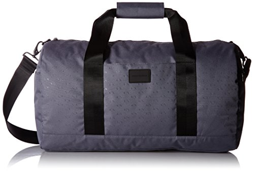 Armani Exchange Men's Light Weight Dobby Nylon All Over Logo Duffle Weekender Bag, Alloy by A|X Armani Exchange