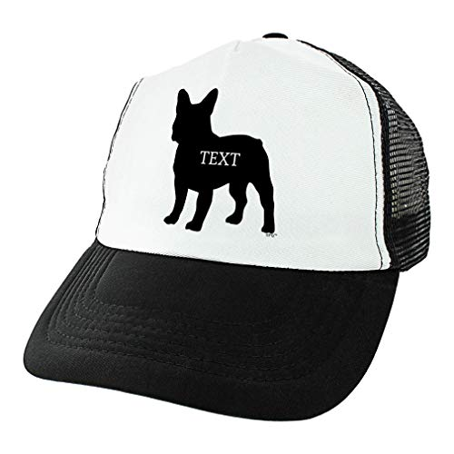 - Cute Dog Gifts French Bulldog Trucker Hat Custom Text Bully Breed Dog Hat Personalized Trucker Hat Black
