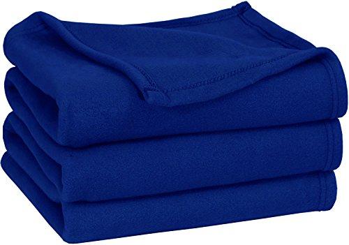 Queen Polar-Fleece Thermal Blanket Navy - Ext...