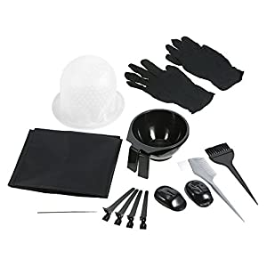 Amazon.com: Anself Hair Coloring Kit Dyeing Bowl Brush Salon Apron ...