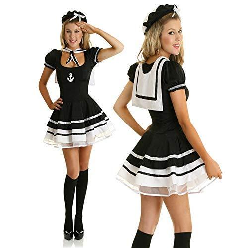 Cosplay costume,Female Navy Suit Sailor Suit Game Uniform Cute Halloween COS Costume 5003 With a Unique Original Ring Fxxk Me