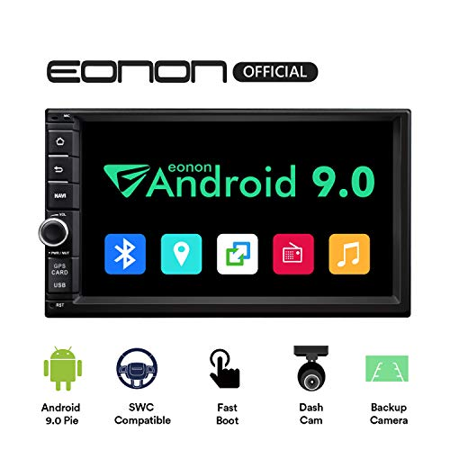 Android 9.0 Double Din Car Stereo, Double Din Car Head Unit,Eonon Car Audio with Bluetooth 5.0, 7 Inch 32GB ROM Car GPS Navigation Head Unit, Support Fastboot, WiFi Connection (NO DVD/CD)- GA2176