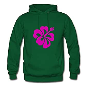 Green Flower Creative Design X-large Cotton Women Hoody