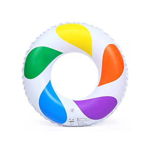 6 Man Life Raft - Yvonne Summer Baby Infant Float Swim Ring Inflatable Swim Pool Water Swimming Kid Ring Boat Rainbow Swim Ring With Handles Life Buoy(70)