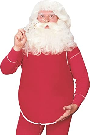 Rubie's Stuffed Santa Belly Accessory Red One Size Rubies Costumes - Apparel 8385