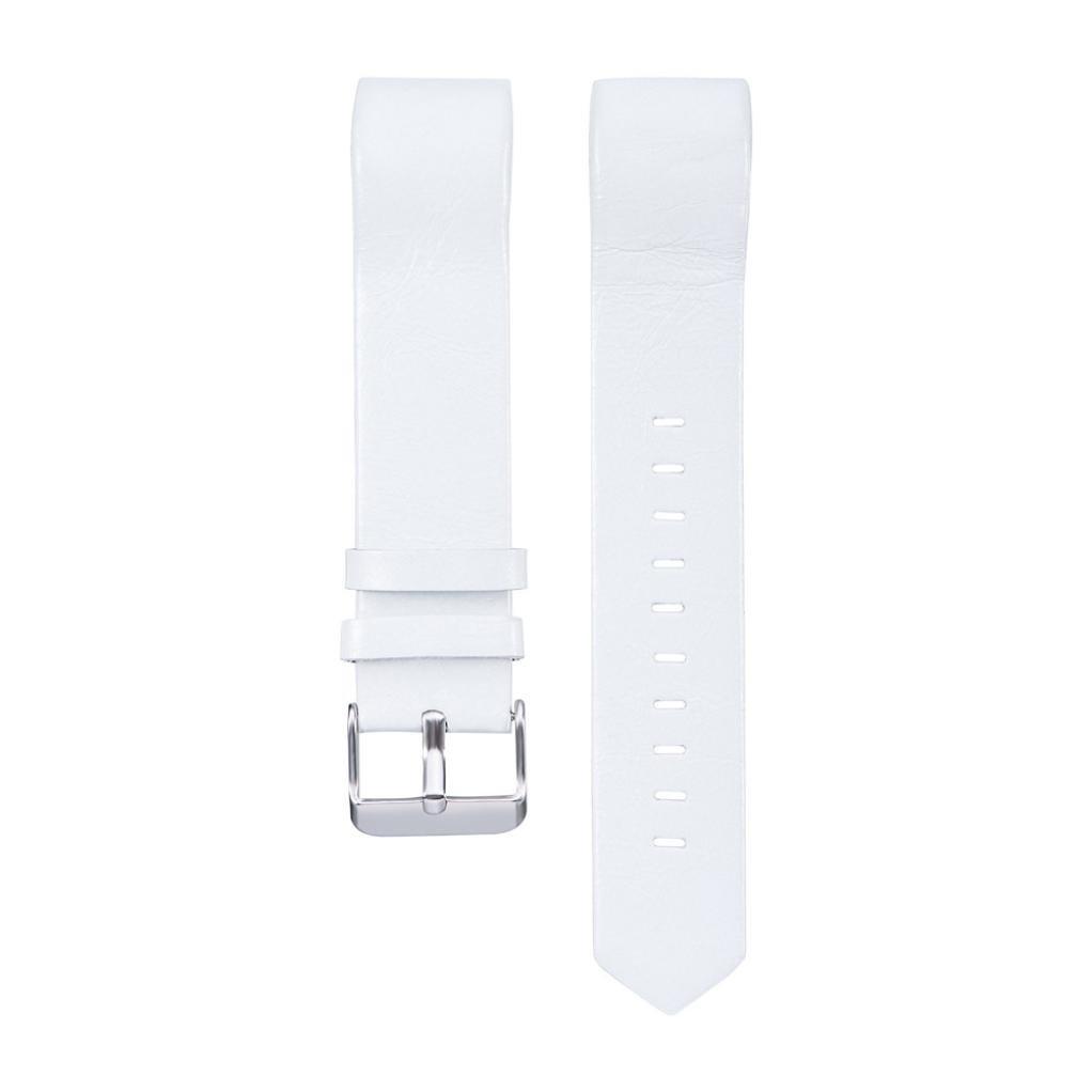 For Fitbit Charge 2バンド、luniweiファッションレザー交換用時計ストラップ手首バンドfor Fitbit Charge 2 ブラック B073GKJZL5