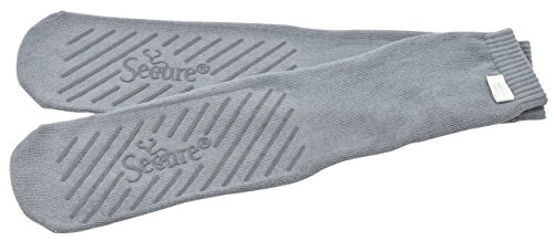 Secure SBS-1G Ultra Soft Bariatric Non Skid Socks with All Around Non Slip Grip Tread Pattern