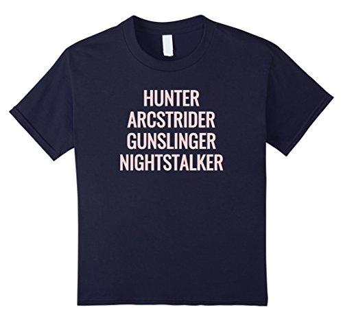 Kids Gamer hunter arcstrider gunslinger nighstalker destiny shirt 8 Navy -