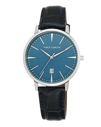 Vince-Camuto-Mens-VC1073LBSV-The-Associate-Navy-Blue-Croco-Textured-Leather-Strap-Watch